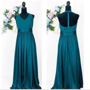 Vera Wang Forest Green Dress